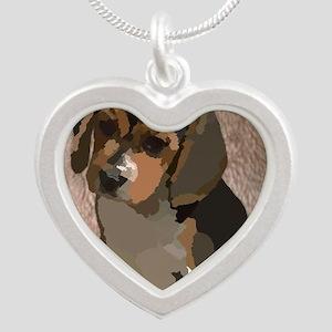 Beagl1 bag Silver Heart Necklace