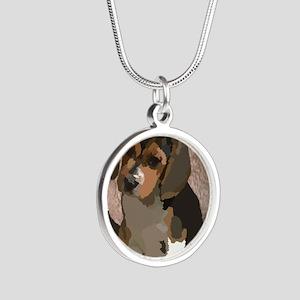 Beagl1 bag Silver Round Necklace