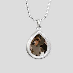 Beagl1 bag Silver Teardrop Necklace