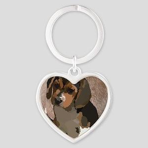 Beagl1 bag Heart Keychain