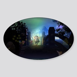 Somewhere Only We Know Sticker (Oval)