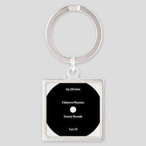 Joy Division Unknown Pleasures Square Keychain