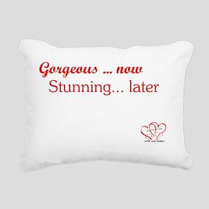 TEXT GORGEOUS with logo Rectangular Canvas Pillow