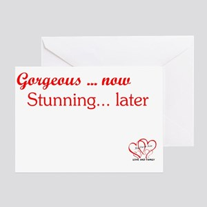 TEXT GORGEOUS with logo Greeting Card