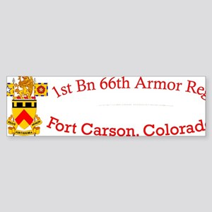 1-66th AR cap1 Sticker (Bumper)