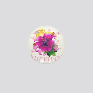Survivor flower pink Mini Button