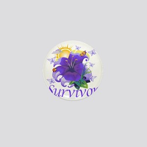 Survivor flower purple Mini Button