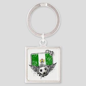 Soccer fan Nigeria Square Keychain