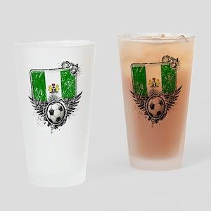 Soccer fan Nigeria Drinking Glass