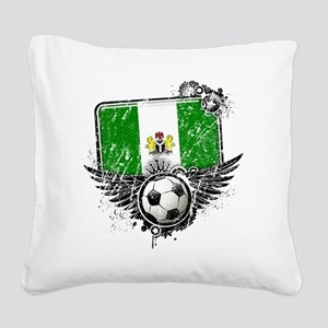Soccer fan Nigeria Square Canvas Pillow