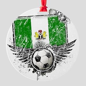 Soccer fan Nigeria Round Ornament