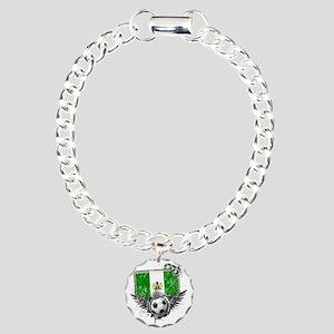 Soccer fan Nigeria Charm Bracelet, One Charm