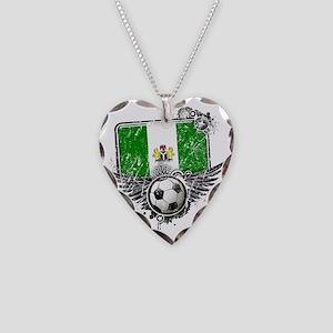 Soccer fan Nigeria Necklace Heart Charm