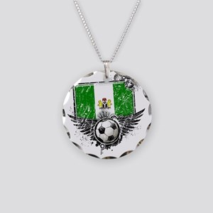 Soccer fan Nigeria Necklace Circle Charm
