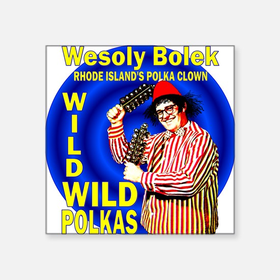 "2-wesoly bolek Square Sticker 3"" x 3"""