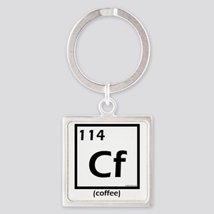 element114coffee Square Keychain