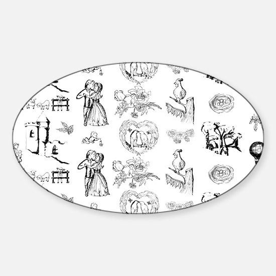 MyBlackToile Sticker (Oval)