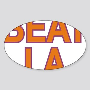 BEAT LA SUNS Sticker (Oval)