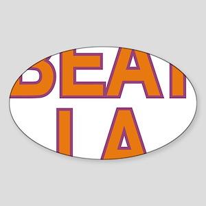 BEAT LA SUNS Sticker (Oval)