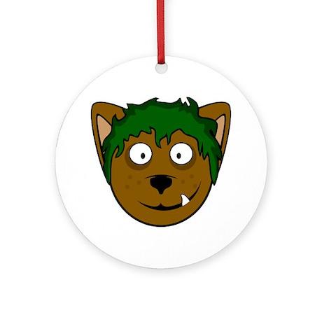 benjiwolfXLwht Round Ornament