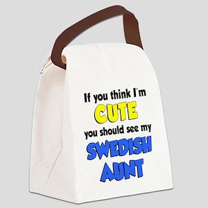 Think Im Cute Swedish Aunt Canvas Lunch Bag