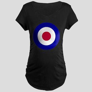 10x10-RAF_roundel Maternity Dark T-Shirt