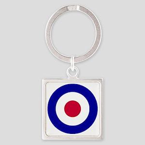 10x10-RAF_roundel Square Keychain