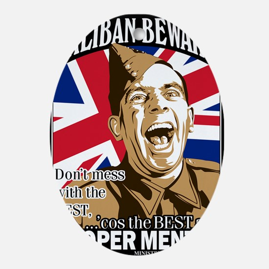 ARMY - Proper Mental Oval Ornament