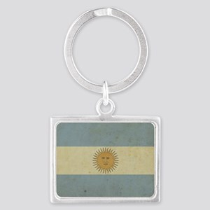 Vintageargentina_fl2 Landscape Keychain
