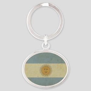 Vintageargentina_fl2 Oval Keychain