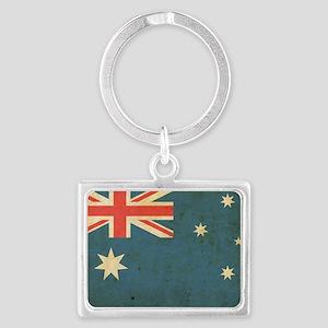 vintageAustralia5 Landscape Keychain