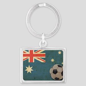 vintageAustralia6 Landscape Keychain