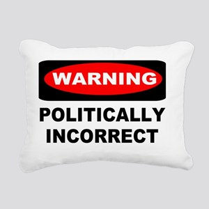 warning sign yard sign 1 Rectangular Canvas Pillow