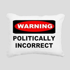 warning sign yard sign 1 Rectangular Canvas Pillow