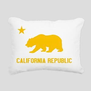 2-California Bear Yellow Rectangular Canvas Pillow