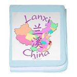Lanxi China Map baby blanket