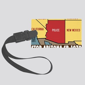 ARIZONApoliceSTATEHorizontalCafe Large Luggage Tag