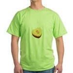 Dollar Symbol on a Candy Heart Green T-Shirt