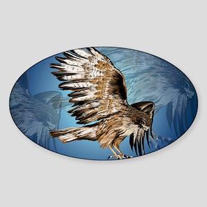 Flying Haw-Yardsign Sticker (Oval)