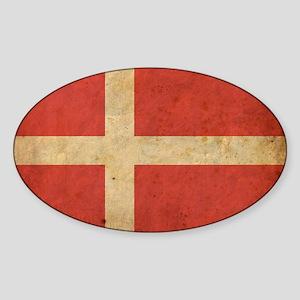 VintageDenmark5 Sticker (Oval)