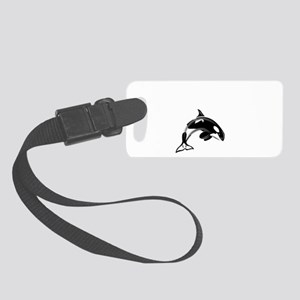 Whale Trainer dark Small Luggage Tag