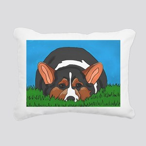 Tri Color corgi Rectangular Canvas Pillow