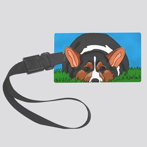 Tri Color corgi Large Luggage Tag