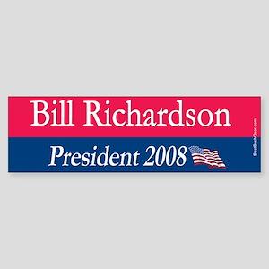 """""""Bill Richardson for President"""" Bumper Sticker"""