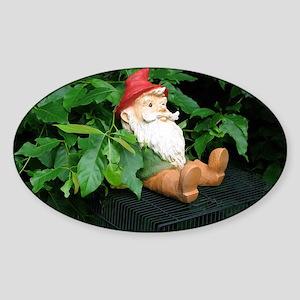 Lauras Gnome Sticker (Oval)
