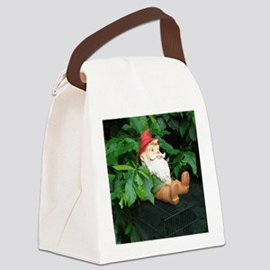 Lauras Gnome Canvas Lunch Bag