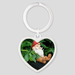 Lauras Gnome Heart Keychain