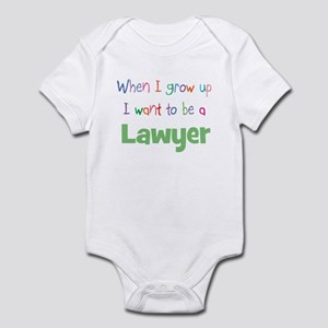 When I Grow Up Lawyer Infant Bodysuit
