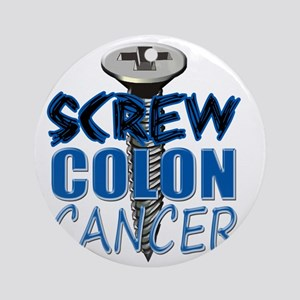 Screw Colon Cancer Round Ornament