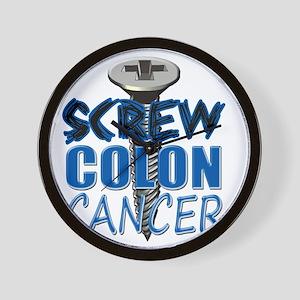 Screw Colon Cancer Wall Clock